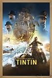 Die Abenteuer von Tim und Struppi Poster, Hauptmotiv! (66x96,5 cm) gerahmt in: Rahmen Eiche