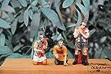 Passionsfiguren-Set mit LED, als Zubehör-Set für Passions- und Weihnachtskrippe, - KREUZWEG-Licht Jesus 10-1 Würfel-Spiel um die Kleider Jesu nach Mt 27,33-36 auf Golgota- Passion Christi - für 9-10 cm Figuren