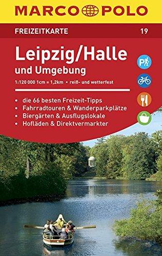 MARCO POLO Freizeitkarte Blatt 19 Leipzig/Halle u.U. 1:120 000: im Dispenser mit 10 Exemplaren (MARCO POLO Freizeitkarten)
