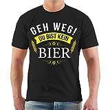Spaß kostet Männer und Herren T-Shirt Männertag Geh Weg Du Bist Kein Bier (mit Rückendruck) Größe S - 8XL