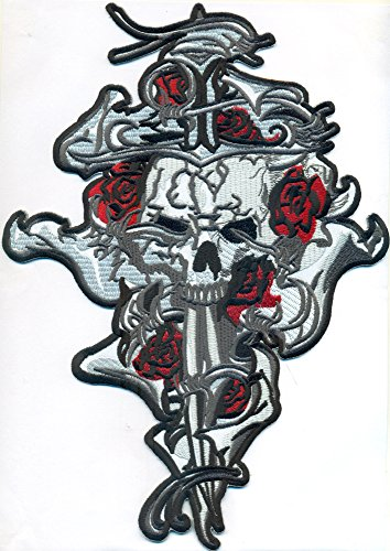 Sword Skull Tribal Tattoo Death Head Biker Rockabilly BACKPATCH Aufnäher Aufbügler (Death Head Patch)