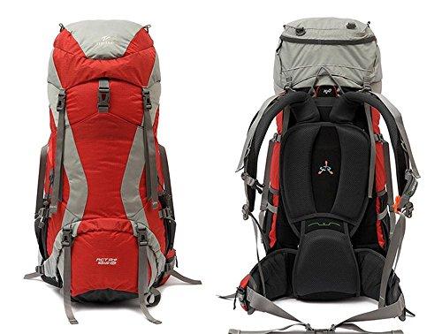 ALUK-Il professionista borsa da viaggio sacchetto di alpinismo doppio pacchetto della spalla di grande capacità trekking impermeabile di campeggio esterno zaino rosso