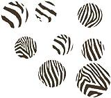 Wand Décor Plus mehr wdpm042Schokolade Braun Zebra Print groß Dots, Wandtattoo Vinyl Aufkleber, 10,2–17,8cm, Schokolade Braun