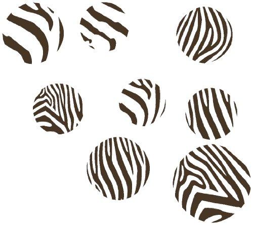 Wand Décor Plus mehr wdpm042Schokolade Braun Zebra Print groß Dots, Wandtattoo Vinyl Aufkleber, 10,2-17,8cm, Schokolade Braun