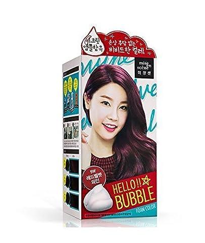 Amore Pacific Mise EN Scene Mise En Scene Hello Bubble Foam Color No Damaged Hair Self Hair Dye (5W) Red Wine Burgundy