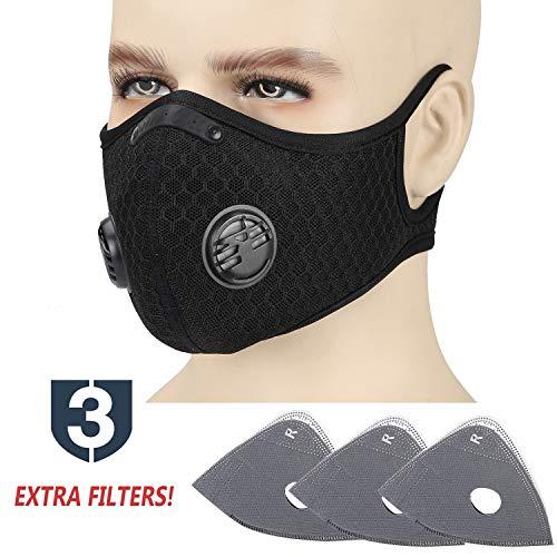 TOLEMI - Máscara antipolvo ciclismo PM2.5 3 filtros