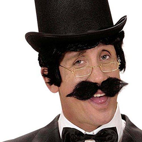 Künstliche Bärte - Amakando Engländer Schnauzer Moustache schwarz zum