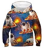 Idgreatim Jungen Mädchen Hoodies All Over Print Hipster Kapuzenpullover Pullover Sweatshirt Hoodies Tops XS
