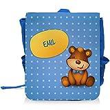 Kinder-Rucksack mit Namen Emil und schönem Bären-Motiv für Jungen | Kindergarten-Rucksack