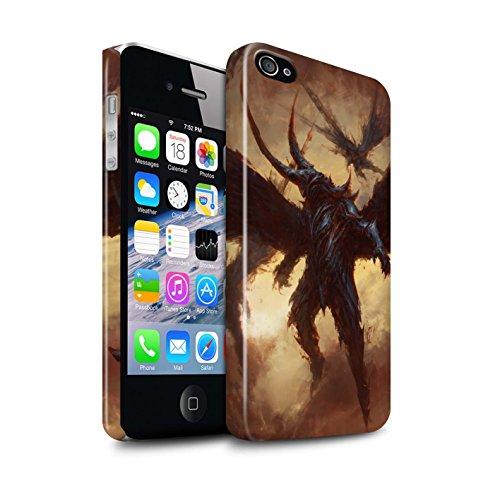 Offiziell Chris Cold Hülle / Glanz Snap-On Case für Apple iPhone 4/4S / Raubtier/Jäger Muster / Wilden Kreaturen Kollektion Flügel von Nox