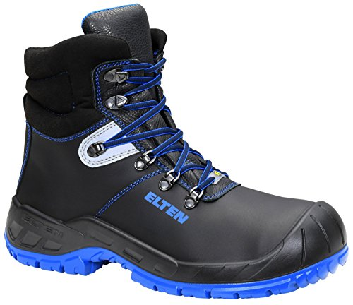 61d21e0c34d ELTEN Sicherheitsstiefel Alessio Blue S3 Esd, Unisex Adults' Safety Boots,  Black (Blue Mid), 8 UK (42 EU)
