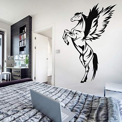 84 * 58 cm pegasus abnehmbare wandaufkleber schlafzimmer wohnkultur tier pferd kunstwand vinyl wandtattoo benutzerdefinierte farben erhältlich z 84x58 cm
