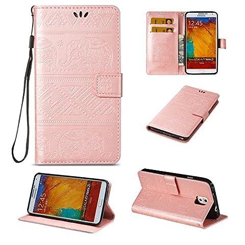 BONROY® Coque pour Samsung Galaxy Note 3,Housse en cuir pour