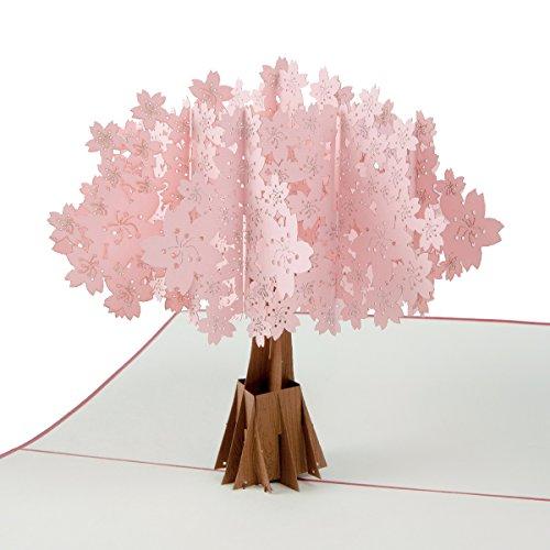 """Biglietto d'auguri """"ciliegio sakura"""" pop-up, adatto per coppie di sposi, come busta per matrimonio, compleanno, san valentino, festa della mamma, come regalo per la mamma"""