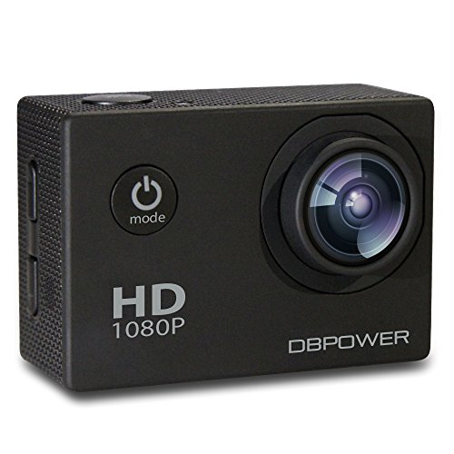 DBPOWER Waterproof Action Sports Camera Cam DV Camcorder 12MP 1080P HD with 2 Batteries Waterproof Case Underwater and Free Mounting Accessories Kit