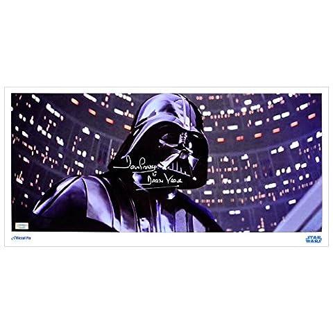 David Prowse autographe Darth Vader 20x 10Cloud City Duel métallique