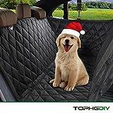 TOPHGDIY Coprisedile Posteriore Auto Per Cani Gatti Animali Domestici Impermeabile Protezione Amaca Con Rete Accessori Universali Automobili Macchine Viaggio SUV Taglia Grande Media Cintura di Sicurez