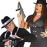 Gangster Machine Gun Black Plastic 52cm for Roaring 20s Great Gatsby Bugsy Malone