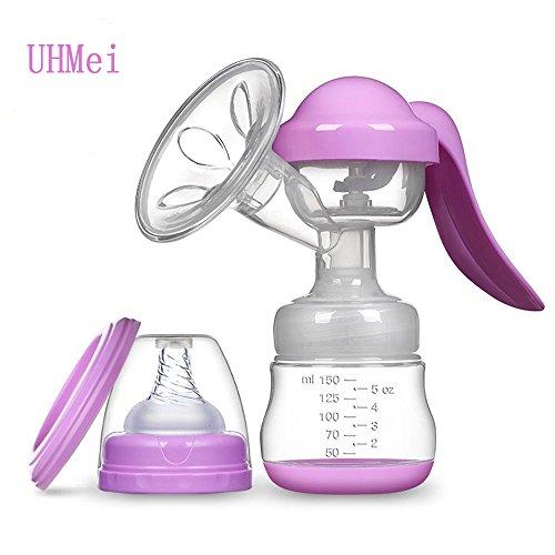 Saugnapf Manuelle Milchpumpe Melken Massage Milchpumpe Hypoallergen Weiche Silikon, Shield mit Baby Flasche Tragbar
