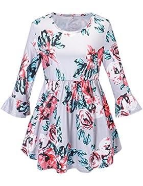 swall owuk Mode Flores Mujer Slim manga larga camisa unregel mäßig Blusas gris gris medium