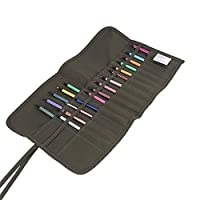 New Larger Paint Brush Holder,30 Slots Roll Up Canvas Paint Brush Bag Artist Draw Pen Watercolor Oil Brushes Case