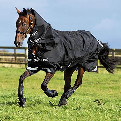 Horseware Rambo Supreme Weidedecke (Regendecke) 145cm 200g Füllung Black/Black -