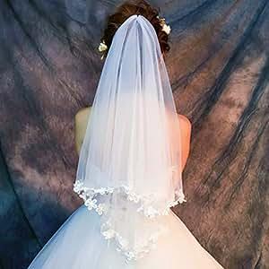 Traîne Avec Mariage Dentelle De Voile Mariée voile rodeBQCxW