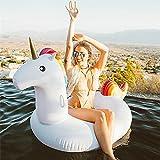 Unicornio Inflable, Flotador de Para Piscina Los Adultos y los Niños Pueden Jugar en la Playa y Adecuado Para la Familia Usted Con Pileta Disfrute de sus Agradables Vacaciones con su Familia y sus Hijos 03