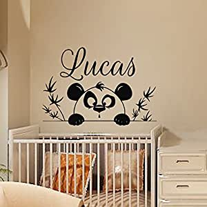 stickers muraux en vinyle motif personnalis avec pr nom. Black Bedroom Furniture Sets. Home Design Ideas