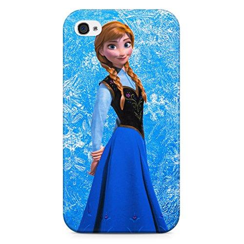 Frozen Anna Hard Plastic Snap Case Cover For Iphone 4 / 4s Custodia