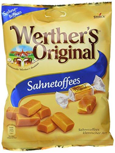 Werther\'s Original Sahnetoffees – Weiche Karamell Bonbons mit zartem Biss und extra Sahne für einen langanhaltendengenuss – (15 x 225g Beutel)