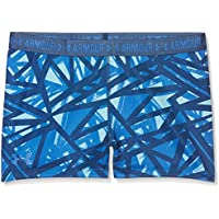 Under Armour Printed Armour Shorty Shorts, Girls, Azul (Venetian Blue), YMD