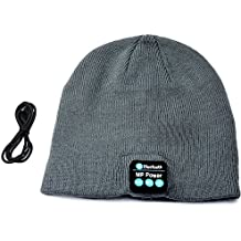 MP power @ Gris Inalámbrica Auriculares deportivos Gorro Bluetooth con construido en Handsfree Micro Auricular Compatible con Iphone 6 Plus 6s Plus 6 6S 5 5S 4 4S 3G 3GS Samsung Galaxy S6 S6 Edge Edge+ S5 S4 S4 Active S4 Mini S3 S3 Mini S2 Note 4 Ipod Touch 3 4 5 HTC ONE X ONE S Z520E LG G2 G3 G4 Nexus 4 Nexus 6 P760 Nokia Lumia 920 820 Sony Z1 Z2 Z3 C4 C5 M4 M5 Huawei P8 Mate S Ipad Mini 1 2 3 4 Ipad Air Ipad Pro Tablet