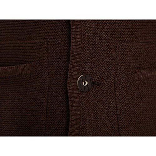 ALMBOCK Herren Strickjacke | Cardigan für Männer in dunkel-braun | Trachten Strickjacke | Größen S, M, L, XL, XXL, XXXL - 5