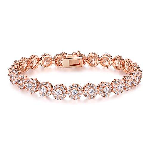 Presentski Roségold Farbe Armband Damen Herrenschmuck Armband Geburtstagsgeschenk für Mädchen