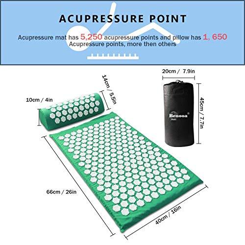 Zoom IMG-2 benooa set tappetino agopressione stuoie