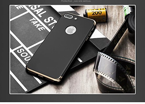 iPhone 7 Plus Hülle, Vandot Glitzer Schutzhülle iPhone 7 Plus Shining PC Hard Hart Handyhülle mit Kratzfeste Stoßdämpfende Ultra Dünn 0.9 mm 360 Full Body Crystal Kristall Bling Passgenaues Rückseite  Aufbau Schwarz