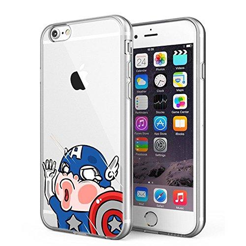 Blitz® POWER RANGER motifs housse de protection transparent TPE iPhone Spiderman M12 iPhone 7 Captain America M8