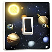 Planets Solar System Light Switch Sticker Vinyl Skin