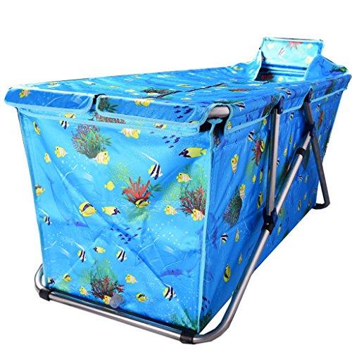 JCOCO Indoor-Falten Badewanne wasserdichtes Gewebe Verdickung Erwachsenen Nicht aufblasbare tragbare Wanne (Farbe : H, größe : 117 * 52cm) -
