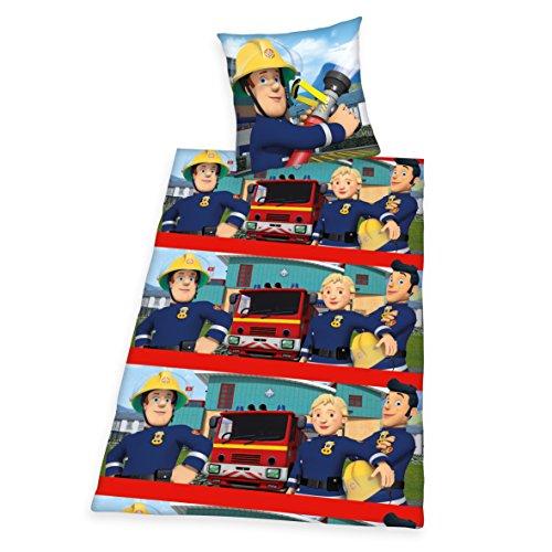feuerwehrmann sam bettwaesche 135x200 80x80 Herding 4676028050521 Feuerwehrmann Sam Bettwäsche Bettwäsche-Set, Baumwolle, Mehrfarbig, 135 x 200 cm