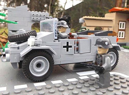 ✠ Bausteine VW Kübelwagen Typ 82 inkl. Modbrix custom Minifiguren Wehrmacht Soldaten – Cobi Upgrade 2187 ✠ - 3