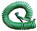Best Coiled Garden Hoses - Jocca 1302 Spiral Hose 15M, Green Review