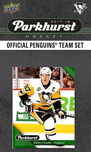 Pittsburgh Penguins 2017 2018 Parkhurst Hockey-Fabrik versiegelte 10-Karte Team-Set mit Sidney Crosby, Evgeni Malkin, Einer Exklusiv Penguins Team Karte Plus