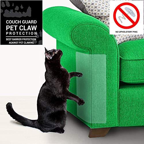 4 Stück Cat Scratch Protector, Flexible Transparent Cat Scratch Guards Keine Pins, Möbel vor Kratzkratzern schützt Katze Kratzer Katzen Möbel Defender, 18,5 x 9,1 ″ Scratch Guard