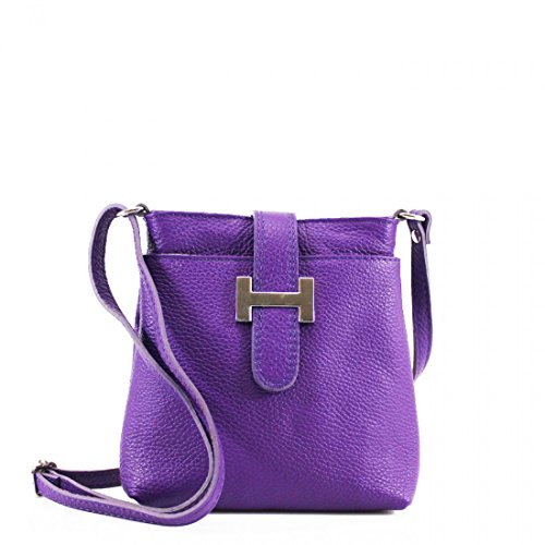 Craze London - Borsa a tracolla Ragazza donna Unisex, neonati Purple