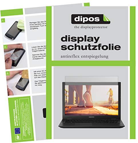 dipos I 2X Schutzfolie matt passend für Medion Akoya P6685 Folie Displayschutzfolie