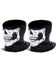 eBoot Masque Crâne Squelette Masque Moto, 2 Pièces