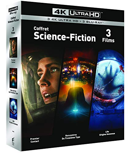 COFFRET SCIENCE-FICTION 4K UHD- Premier Contact / Rencontres du 3e Type / Life : Origne Inconnue - Exclusif Amazon [Blu-ray]