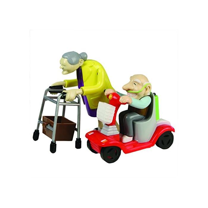 Rennen Oma und Opa, Aufziehspielzeug, Kunststoff, 2er Set 1